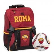 PROMO SCHOOL PACK AS ROMA UFFIC.ZAINO ESTENSIB+GADGET+ASTUCCIO 3 ZIP SCUOLA FRIXION/GIOTTO/TRATTO DA PANINI SCUOLA ITALY