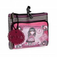 NECESSER BEAUTY DA VIAGGIO 3 ZIP SUGAR & SPICE GORJUSS SANTORO LONDON ORIGINAL 27X17X10CM 100%PU SIMILPELLE
