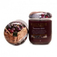 CANDELA VASO IN VETRO HEARTH & HOME 310GR.DURATA 70HR. AMARENE DOLCI
