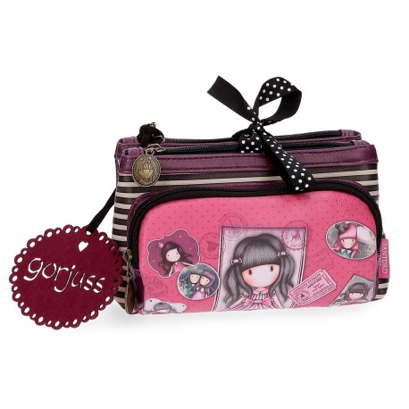 PORTA TUTTO BEAUTY APRIBILE NECESSER 3 COMPARTI SUGAR & SPICE GORJUSS SANTORO LONDON ORIGINAL SIMILPELLE 20,5X10,5X8,5CM