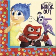 BLISTER 20 TOVAGLIOLI CARTA INSIDE OUT ORIGINAL DISNEY PIXAR 33X33CM.2 VELI