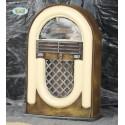 RADIO ANTICA 21X33CM CON LUCI SUONA E CANTA ARTICOLI DECORATIVI PER ADDOBBI HALLOWEEN PER LOCALI E PARTY A TEMA HORROR
