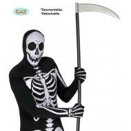 GUADANA FALCE DELLA MORTE SMONTABILE 4PEZZI 100CM IN PLASTICA PER TRAVESTIMENTI DI HALLOWEEN/CARNEVALE E PARTY A TEMA HO