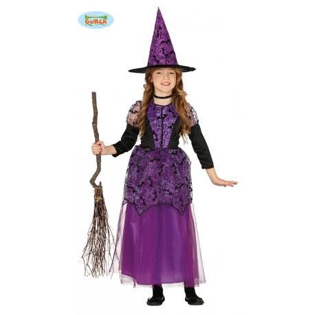 Vestiti Halloween Strega.Costume Strega Viola Baby 3 4 Anni Vestito E Cappello Per Travestimenti Di Halloween Carnevale E Party A Tema No Accesso Parole E Pensieri
