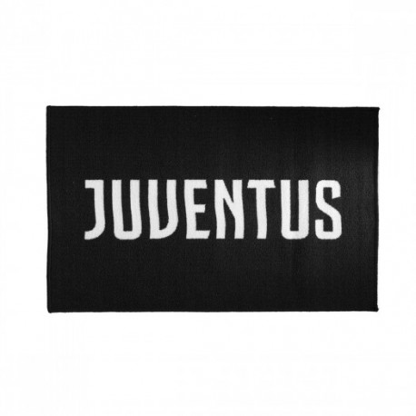 TAPPETO ANTISCIVOLO FC JUVENTUS ORIGINAL 70X110CM NUOVO LOGO PRODOTTO UFFICIALE 75% LATTICE 25% NYLON DA HERMET ITALY
