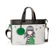 BORSA CON TRACOLLA THE SCARF GORJUSS SANTORO LONDON 39X28X6,5 1 ZIP 1 TASCA EST.+ 1 INT.C/ZIP1S/ZIP CM SIMILPEL.100%PVC