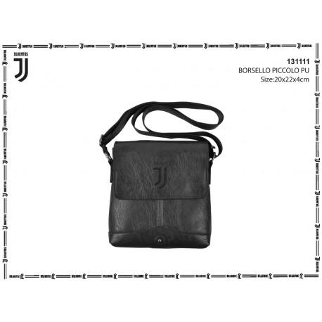 BORSELLO TRACOLLA UOMO FC JUVENTUS 21X22X4CM NERO CON PATTINA 2 TASCHE ESTERNE1CON ZIP 100%PL PRODOTTO UFFIC. IMMA ITALY