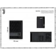 PORTAFOGLIO A STRAPPO FC JUVENTUS PRODOTTO UFFICIALE NERO9X13X1CM ZIP PORTASPICCI PORTACARTE E DOCUM. 40%PL40%PVC20%PU