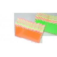 SEGNAPREZZI FLASH CARTONCINO 6,6X8,8 CM.100 PEZZI IN 5 COLORI ASSORTITI
