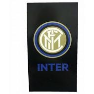 TELO MARE FC INTERNAZIONALE 90X170CM IN SPUGNA LEGGERA 100% COTONE ARTICOLI DA MARE E DA PISCINA PRODOTTO UFFICIALE HERM