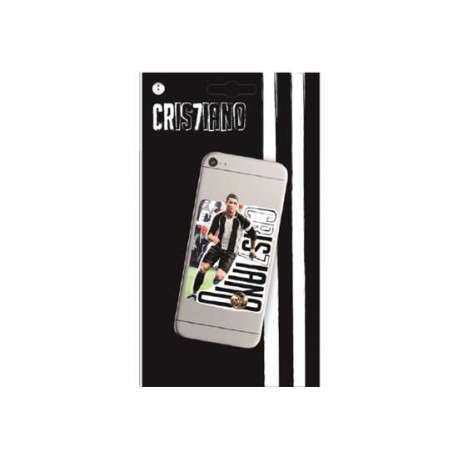 STICKERS RIPOSIZIONABILE PER TELEFONO CELLULARE 9X6CM CR7 PRODOTTO UFFICIALE CRISTIANO RONALDO FC JUVENTUS FOR MOBILE