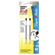 BLISTER 2 REFIL COL.NERO REPLAY PREMIUM NUOVA PENNA CANCELLABILE GEL PAPER MATE