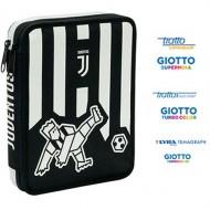 ASTUCCIO SCUOLA MAXI FC JUVENTUS PRODOTTO UFFICIALE GARANTITO SEVEN ITALY COMPLETO DI 62 PEZZI GIOTTO/TRATTO/LYRA/PRITT