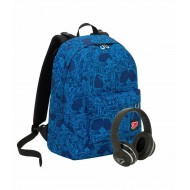 ZAINO SCUOLA SEVEN DAGGER BOY REVERSIBILE BACKPACKCON CUFFIE MUSIC OMAGGIO ZAINO THE DOUBLE COLORI VARI ASSORTITI