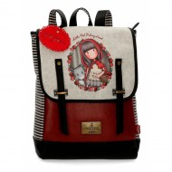 ZAINO CASUAL GORJUSS LITTLE RED SANTORO LONDON SIMILPELLE 29X38X9CM PORTA PC CON PATT.1 ZIP + 1 TASCA EST.CON ZIP 100%PU