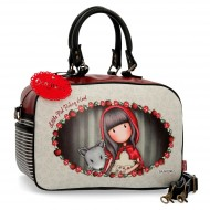 BORSA DA VIAGGIO CON TRACOLLA GORJUSS LITTLE RED SANTORO LONDON SIMILPELLE 37X25X15CM 1 ZIP +1 TASCA EST.CON ZIP 100%PU