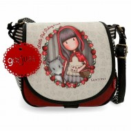 BORSA A TRACOLLA GORJUSS LITTLE RED SANTORO LONDON SIMILPELLE 23X20X8CM 1 ZIP + 1 TASCA EST.CON ZIP 100%PU ECOPELLE