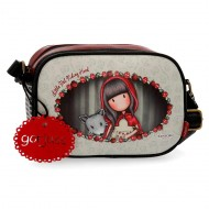 MESSENGER BORSA A TRACOLLA GORJUSS LITTLE RED SANTORO LONDON SIMILPELLE 23X17X8CM 1 ZIP + 3 TASCHE CON ZIP 100%PU