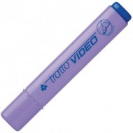 EVIDENZIATORE TRATTO VIDEO VIOLA LILLA FLUORESCENT INK PUNTA A SCALPELLO DA1 A 5 MM.MADE IN ITALY