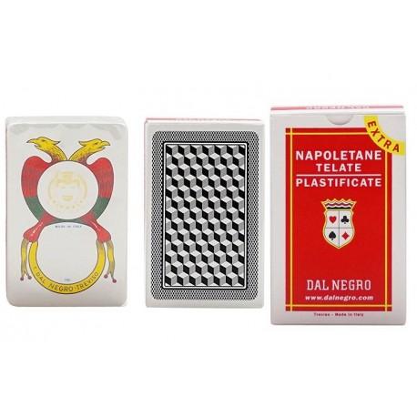 CARTE NAPOLETANE PLASTIFICATE DAL NEGRO MAZZO DA 40 CARTE NUMERO 82 EXTRA 85M SCATOLA ROSSA DAL NEGRO MADE IN ITALY