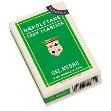 CARTE NAPOLETANE PLASTIFICATE DAL NEGRO N°81 SCATOLA VERDE TOP QUALITY 100% PLASTICA PRODOTTO DAL NEGRO MADE IN ITALY