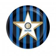 FC INTER OFFICIAL PRODUCT PIATTO IN CARTA DIAM.18CM CONFEZIONE DA 8 PZ. FESTE DI COMPLEANNO E PARTY VARI MA