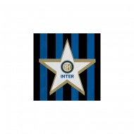 INTER OFFICIAL PRODUCT TOVAGLIOLI CELLULOSA 33X33CM2VELI CONF. DA 20 PZ FESTE COMPLEANNO E PARTY VARI.