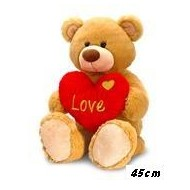 PELUCHE 45 CM.CON CUORE LOVE FLOPPY KEEL TOYS