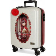 TROLLEY DA VIAGGIO ABS 4 RUOTE GORJUSS LITTLE RED SANTORO LONDON COLLEZ.2019/20 VALIGIA BAG. A MANO 37X55X20CM A COMBINA