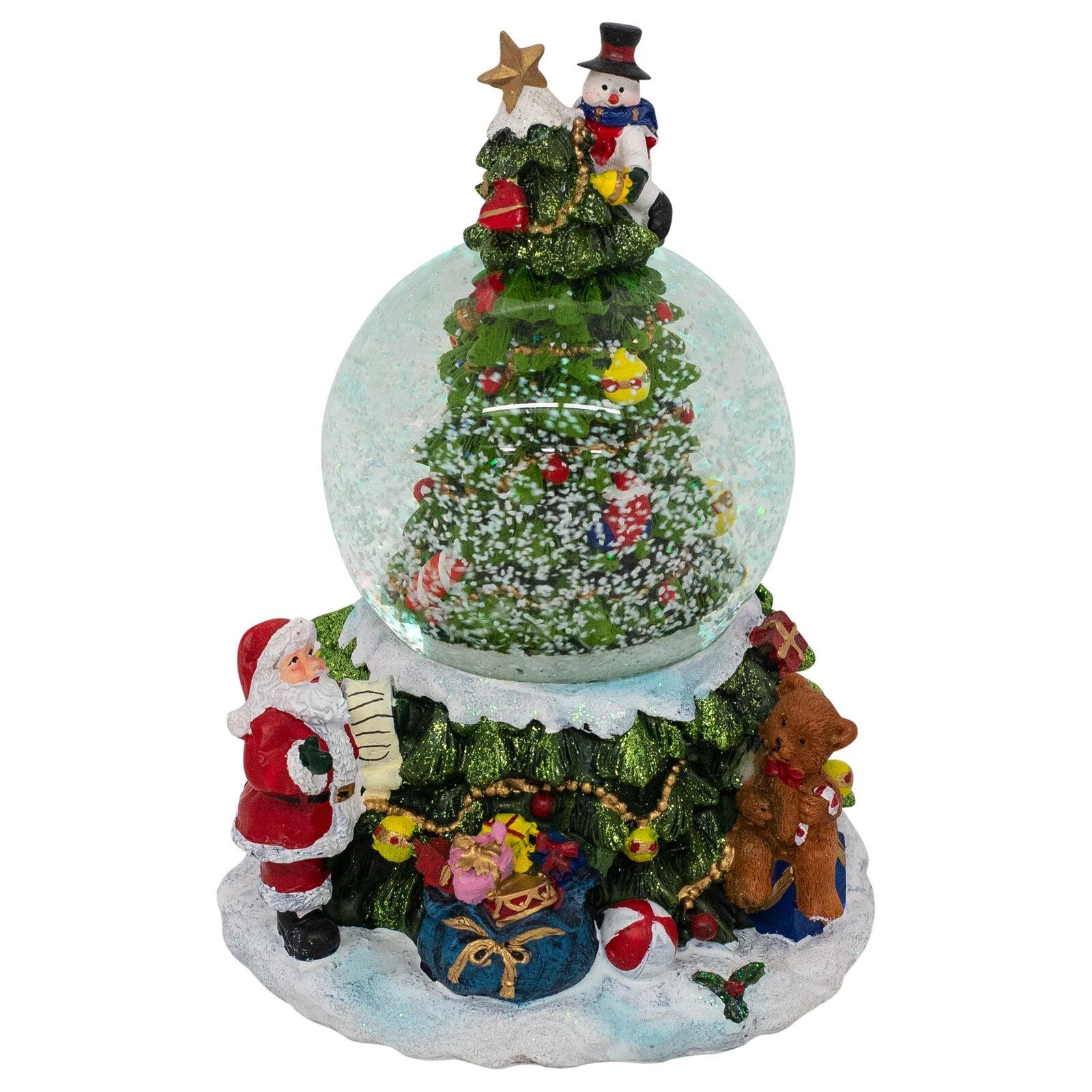 Babbo Natale Musicale.Palla Di Neve Musicale 17x12cm Albero Di Natale Babbo Natale Doni E Pupazzo C Scatola Top Quality Il Mondo Dei Carillon Parole E Pensieri