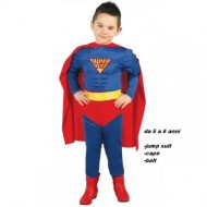VESTITO CARNEVALE SUPER HERO 5/6 ANNI