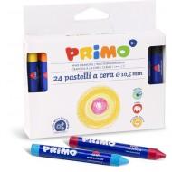 PASTELLI A CERA DA 24 PEZZI DIAMETRO 10,5 MM PRIMO MOROCOLOR MADE IN ITALY