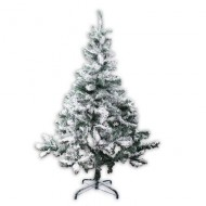 "ALBERO DI NATALE ECOLOGICO INNEVATO ""ALASKA"" 320 RAMI 150CM MOLTO REALISTICO TOP QUALITY CHRISTMAS TREES GUIRMA"