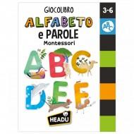 GIOCOLIBRO ALFABETO E PAROLE MONTESSORI 3-6 ANNI HEADU MADE IN ITALY GIOCO RICREATIVO