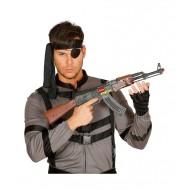 FINTO FUCILE AK-47 62CM.IN PLASTICA CON LUCE MITRAGLIATORE IN PLASTICA AK3688 CARNEVALE COD.18517 GUIRCA 8434077185179