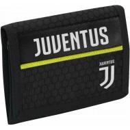 PORTAFOGLIO VELCRO A STRAPPO FC JUVENTUS GET RADY JET BLACK24X21CM TASCA C/ZIP PRODOTTO UFFICIALE SEVEN SPA ITALY