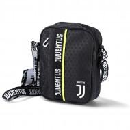 TRACOLLINA FC JUVENTUS NERA 21X16X7CM SQUARE SHOULDER BAG GET RADY JET BLACK PRODOTTO UFFICIALE SEVEN SPA ITALY