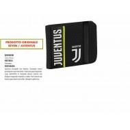 PORTAFOGLIO FC JUVENTUS GET RADY JET BLACK12,5X10CM 2 ANTE TASCA C/ZIP ELASTICO NERO PRODOTTO UFFICIALE SEVEN SPA ITALY