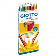 BLISTER 24 PASTELLI GIOTTO ELIOS TRIANGULAR WOOD FREE 24 COLORI RESISTANT PRODOTTO E DISTRIBUITO DA FILA GROUP ITALY