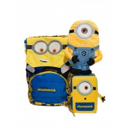 SCHOOL PACK DESPICABLE ME THE RISE OF GRU RAD.YELLW ZAINO ESTENSIBILE+ASTUCCIO 3 ZIP CONT.43PZ.GIOTTO/TRATTO SEVEN ITALY