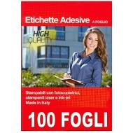 ETICHETTE ADESIVE A FOGLIO A4 SENZA MARGINI STAMPABILI LASER INK-JET E FOTOCO.NIKOFFICE APPA TAC 210X297MM.MADE IN ITALY